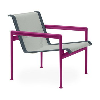 Shown in Grey Tone Fabric, Plum Frame, Grey Trim