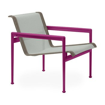 Shown in Grey Tone Fabric, Plum Frame, Sand Trim