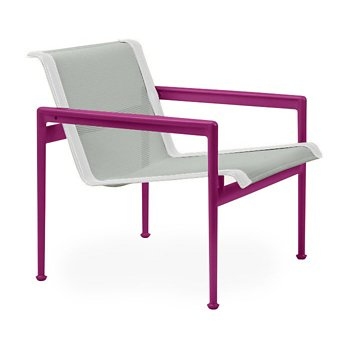 Shown in Grey Tone Fabric, Plum Frame, White Trim