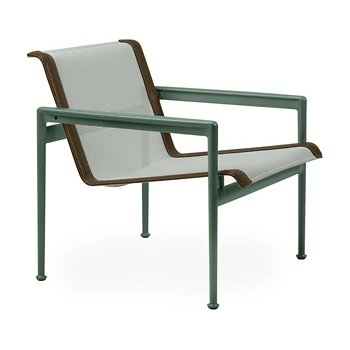 Shown in Grey Tone Fabric, Green Frame, Bronze Trim