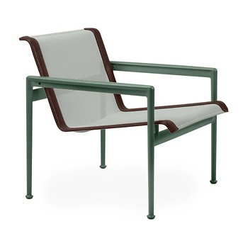 Shown in Grey Tone Fabric, Green Frame, Brown Trim