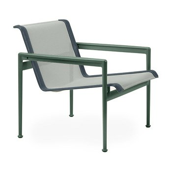 Shown in Grey Tone Fabric, Green Frame, Grey Trim