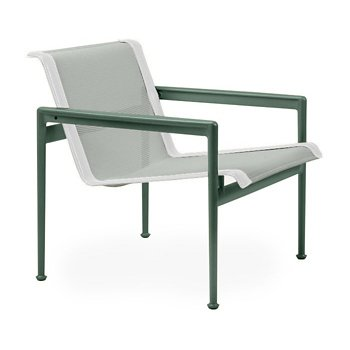 Shown in Grey Tone Fabric, Green Frame, White Trim