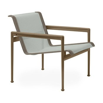 Shown in Grey Tone Fabric, Warm Bronze Frame, Sand Trim