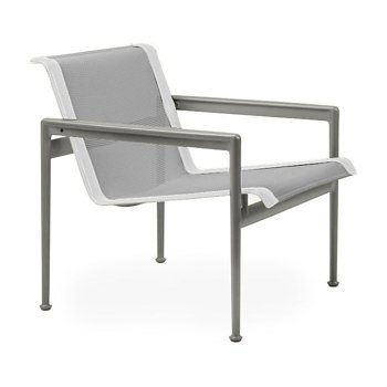 Shown in Aluminum Fabric, Weatherable Silver Frame, White Trim