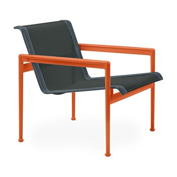 Shown in Onyx Fabric, Orange Frame, Grey Trim
