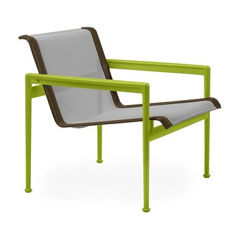 Shown in Aluminum Fabric, Lime Green Frame, Bronze Trim