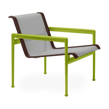 Shown in Aluminum Fabric, Lime Green Frame, Brown Trim