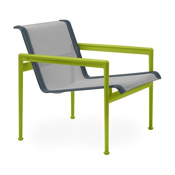 Shown in Aluminum Fabric, Lime Green Frame, Grey Trim