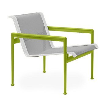 Shown in Aluminum Fabric, Lime Green Frame, White Trim