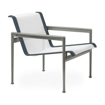 Shown in White Fabric, Weatherable Silver Frame, Grey Trim