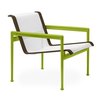 Shown in White Fabric, Lime Green Frame, Bronze Trim
