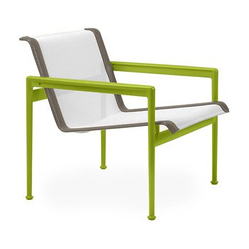Shown in White Fabric, Lime Green Frame, Sand Trim