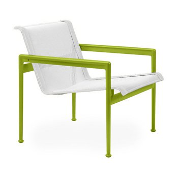 Shown in White Fabric, Lime Green Frame, White Trim