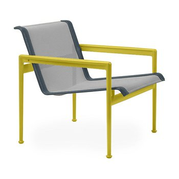Shown in Aluminum Fabric, Yellow Frame, Grey Trim