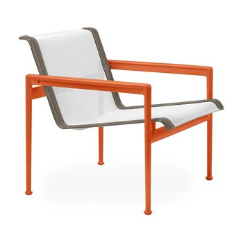 Shown in White Fabric, Orange Frame, Sand Trim