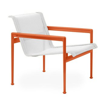 Shown in White Fabric, Orange Frame, White Trim