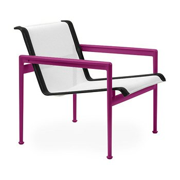 Shown in White Fabric, Plum Frame, Onyx Trim