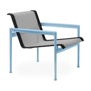 Shown in Aluminum Fabric, Sky Blue Frame, Onyx Trim