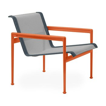 Shown in Aluminum Fabric, Orange Frame, Grey Trim