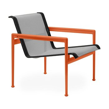 Shown in Aluminum Fabric, Orange Frame, Onyx Trim