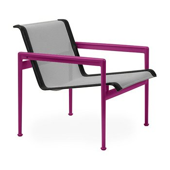 Shown in Aluminum Fabric, Plum Frame, Onyx Trim