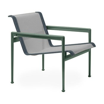 Shown in Aluminum Fabric, Green Frame, Grey Trim