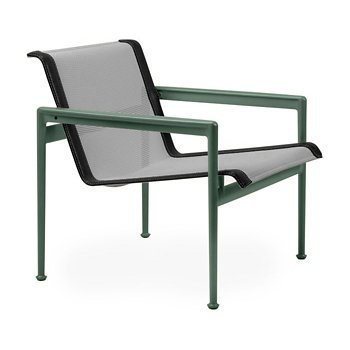 Shown in Aluminum Fabric, Green Frame, Onyx Trim