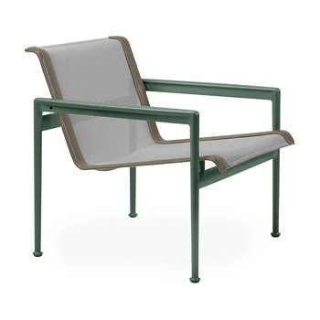 Shown in Aluminum Fabric, Green Frame, Sand Trim