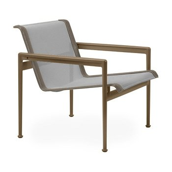 Shown in Aluminum Fabric, Warm Bronze Frame, Sand Trim