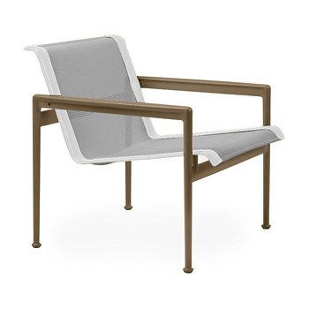 Shown in Aluminum Fabric, Warm Bronze Frame, White Trim