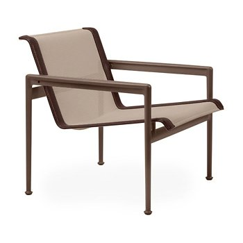 Shown in Bronze Fabric, Chestnut Frame, Brown Trim