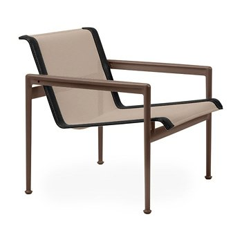 Shown in Bronze Fabric, Chestnut Frame, Onyx Trim