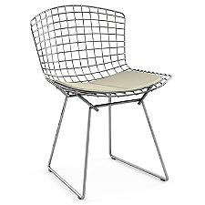 Bertoia Side Chair with Seat Cushion  -  Authorized Retailer