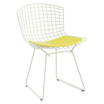 Shown in Vinyl Sunflower Seat Cushion with White Powder Coat base
