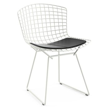 Shown in Vinyl Black Seat Cushion with White Powder Coat base