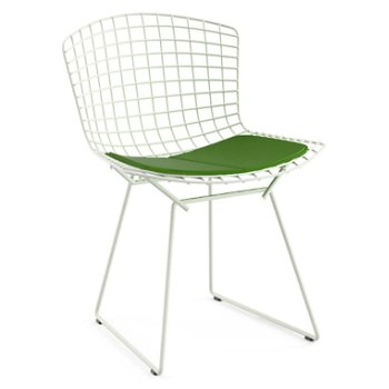 Shown in Vinyl Lime Seat Cushion with White Powder Coat base