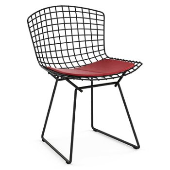 Shown in Vinyl Red Seat Cushion with Black Powder Coat base