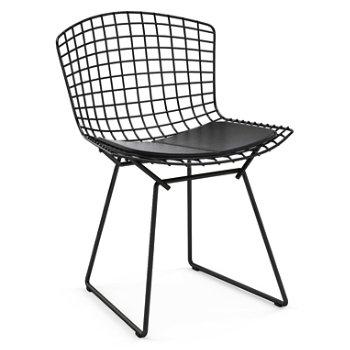 Shown in Vinyl Black Seat Cushion with Black Powder Coat base
