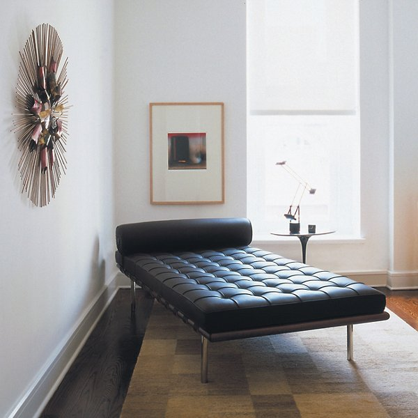 Barcelona Couch with Black Straps