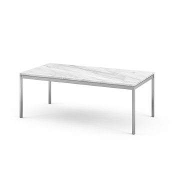 Shown in Carrara White Grey Coated Marble top