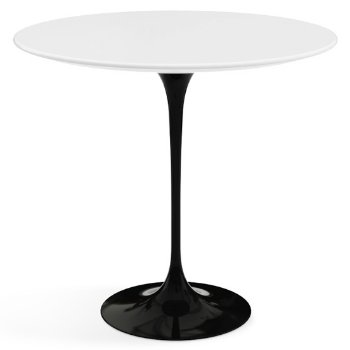 Shown in White Laminate top with Black base