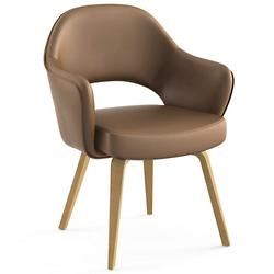 Saarinen Executive Armchair with Wood Leg