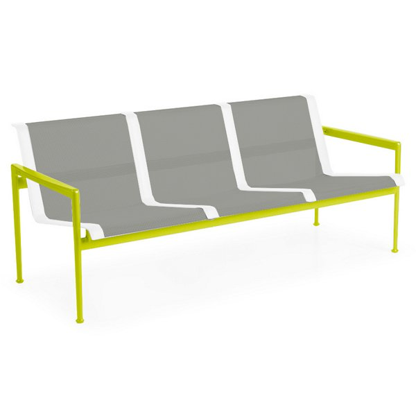 1966 Collection Three Seat Lounge Chair with Arms