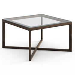 Krusin Square End Table with Glass or Laminate Table Top