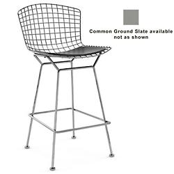 Bertoia Barstool with Seat Cushion (Slate/Chrome) - OPEN BOX