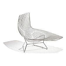 Bertoia Asymmetric Chaise, Unupholstered  -  Authorized Retailer