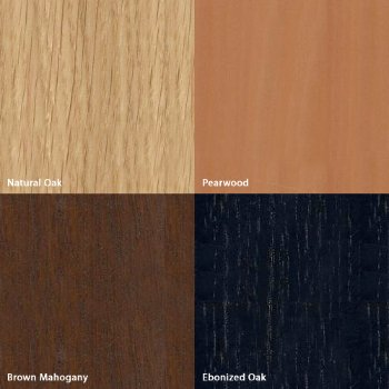 Shown in Wood options