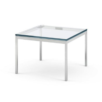 Shown in Satin Chrom finish, Clear Glass option