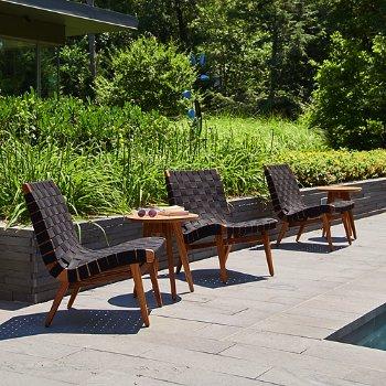 Ebonized Maple Round Side Table